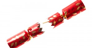 image of pulled Christmas cracker