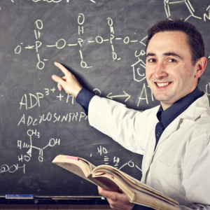 photo of science teacher